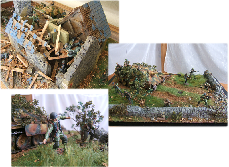 Jacob's soldier dioramas.